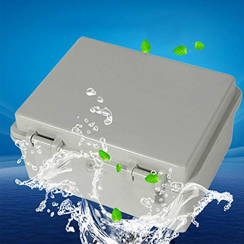 """Awclub Waterproof Dustproof IP65 ABS Plastic Electric Junction Box Project Enclosure Gray With Lock (8.66""""x6.69""""x4.33"""")"""