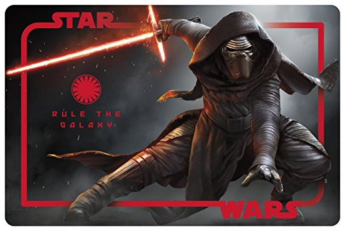 Zak! Designs Placemats with Kylo Ren from Star Wars The Force Awakens, Set of 4, BPA-free Plastic