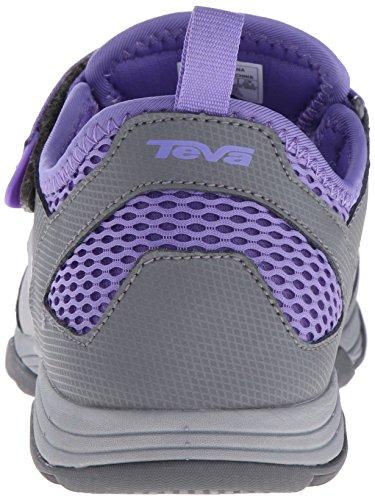 Teva Rollick Zapatillas para exteriores (Toddler/Little Kid/Big Kid) Grey/Purple-t