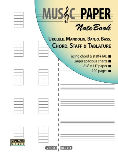 Amazon Music Paper Notebook Ukulele Mandolin Banjo Bass