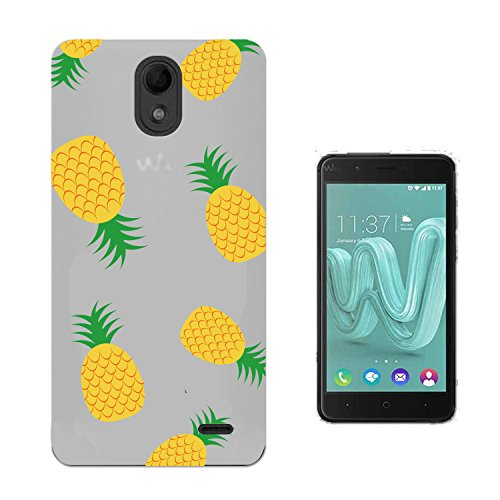 Coque Wiko Harry Ananas Impression Souple TPU Silicone Anti-rayures Protection Arrière Étui Pour Wiko Harry