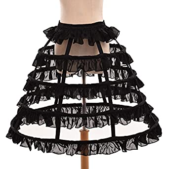 Victorian Costumes: Dresses, Saloon Girls, Southern Belle, Witch GRACEART Hoop Skirt Crinoline Underskirt Dress Pannier $47.90 AT vintagedancer.com
