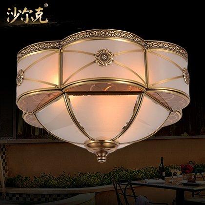 BLYC- LED-Continental Kupfer und Schlafraum American Kupfer Deckenbeleuchtungen und Löten Flur Balkon Beleuchtung 420 * 230mm