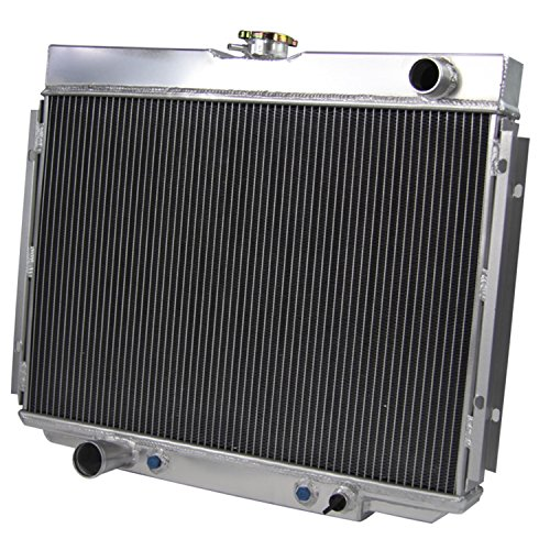 Primecooling 3 Row All Aluminum Radiator for 1967-70 Ford Mustang Mercury Cougar, XR7 More Models