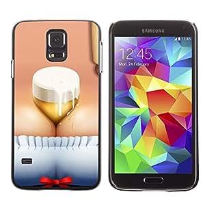 PC/Aluminum Funda Carcasa protectora para Samsung Galaxy S5 SM-G900 Funny Beer Brest Octoberfest / JUSTGO PHONE PROTECTOR