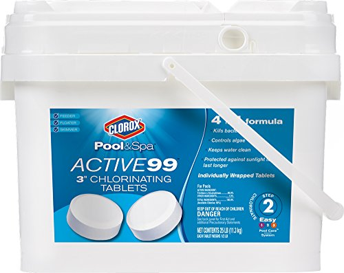 Clorox Pool&Spa Active 99 3-Inch Chlorinating Tablets, 25-Pound 22025CLXW