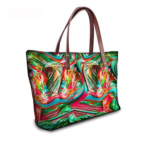 C8wc2804al Wallets Satchel Bags Handbags Purse Top FancyPrint Handle Foldable Women leather qn1fx7Tv