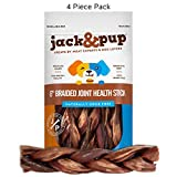 "Cheap Jack&Pup 6"" Braided Joint Health Support Sticks Dog Treat Chews (4 Pack) – Savory Beef Gullet Sticks – Naturally Rich in Glucosamine and Chondroitin – Promotes Healthy Joints and Tissue Growth"