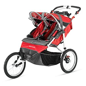 Schwinn Arrow Double Stroller Red/Black