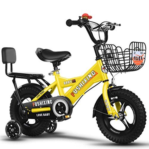 クリエイティブ自転車、少年の自転車の少年の自転車の自転車の自転車の衝撃の安全自転車の子供の自転車の長さの削減88-121CM (色 : イエロー いえろ゜, サイズ さいず : 115CM) B07D2G8LP4イエロー いえろ゜ 115CM