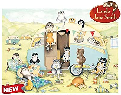 Ravensburger Linda Jane Smith Vintage No.2 Crazy Cats … at The Caravan 1000pc Jigsaw Puzzle