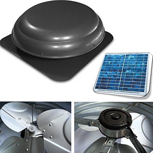 Premium Solar Attic Fan, Ultra Efficient Brushless DC Mot...