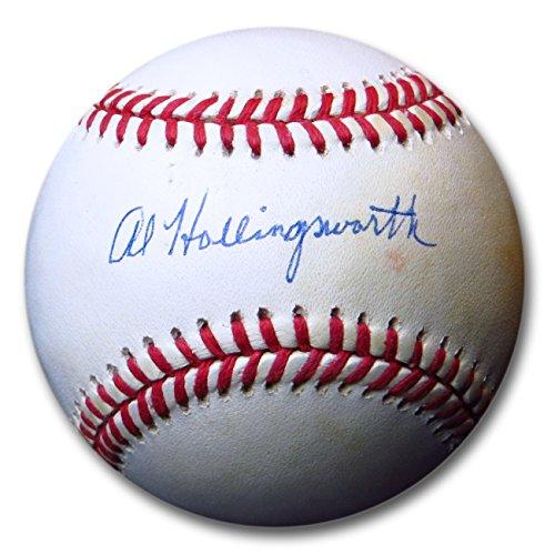 Al Hollingsworth Signed Autographed NL Baseball Brooklyn Dodgers COA 44824