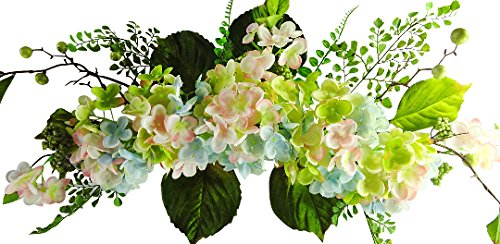 26 inches Hydrangea Swag for Wedding Party Home Garden, Wedding Arch Garden Wall Decoration, Weddings, Blue Pink