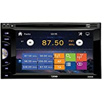 DS18 DD620 6.2 Double Universal Car Multimedia System with Radio, DVD, USB, Bluetooth, & Remote