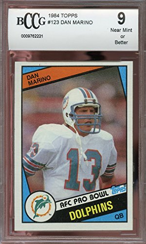 1984 topps #123 DAN MARINO miami dolphins rookie card BGS...