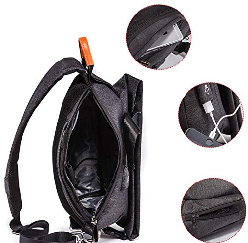 Pour Bandoulière À Taille Sport Brand Multifonctionnel Gray Tide couleur Crossbody Noir Size Dos Étudiant Feiyuess Sac Décontracté De One BAIWFqW