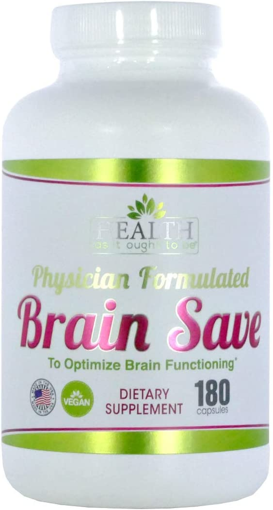 Brain Save 180 Capsules Physician Formulated to Optimize Brain Functioning