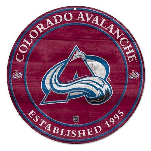 NHL Colorado Avalanche Wood Sign, (Colorado Avalanche Wood)