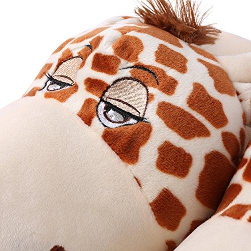 Slipper Plush Children Spa Giraffe Bedroom Upper Soft Animal Aerusi House Parent Home vFtUqwT