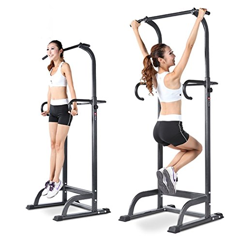 Leoneva Home Adjustable Power Tower,Chin Up Pull Up Bar Strength Power Tower, Strength Training Fitness Equipment, Multi Station Workout Dip Station for Home Gym
