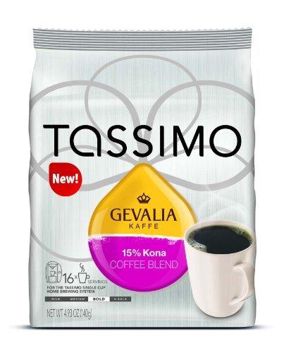 Gevalia Kaffe 15% Kona Blend Coffee Size: 48 T-Discs Home & Kitchen (Kona Coffee Tassimo)
