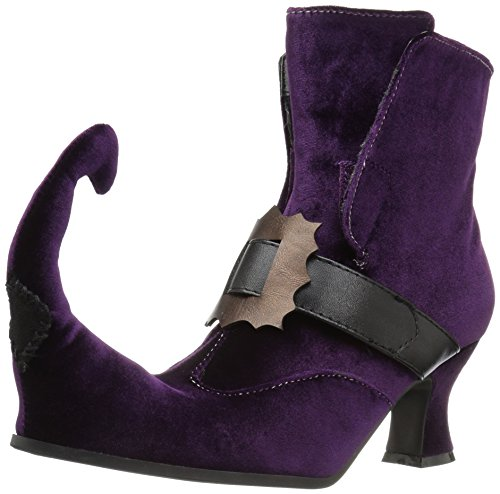 Boots Witch (Ellie Shoes Women's 253-Irina Ankle Bootie, Purple, 8 M)