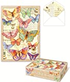Punch Studio Die-Cut Butterfly Note Cards -- Set of 10 Blank Cards and Lined Envelopes