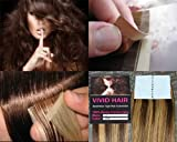 20 Pcs X 22″ Inches Vivid Hair Remy Seamless Tape In Skin Weft Human Hair Extensions Color Medium Brown Mix Blonde