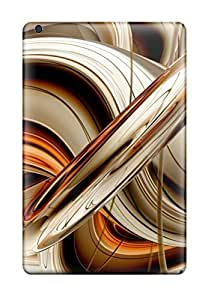 Ipad Mini/mini 2 Case Cover Skin : Premium High Quality Abstract Golden Lines Case