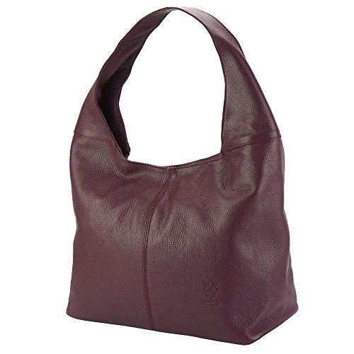 Y De Caïssa Hobo Market Florence Burdeos Agradable Cuero Ligero 0834 Leather Bolsos qnpCCzwt