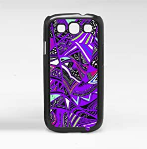 Tribal Print Pattern Purple Colorful Hard Snap on Phone Case (Galaxy s3 sIII)