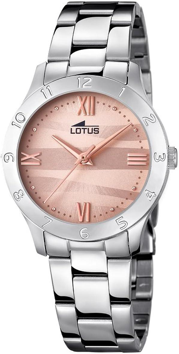 Lotus Watches Reloj Análogo clásico para Mujer de Cuarzo con Correa en Acero Inoxidable 18138/5