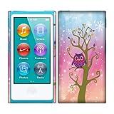 Apple iPod Nano 7 (7th Generation) Case, Fincibo (TM) Back Cover Hard Plastic Protector, Owl Square