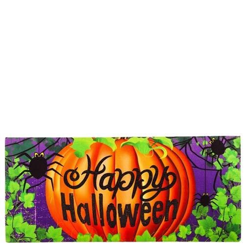 Evergreen Halloween Spider Decorative Mat Insert, 10 x 22 inches]()