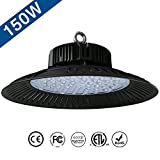 Jeffrien LED High Bay Light, UFO Commercial Lighting 110Lm/W 150W 6000K Day White, Super Bright LEDs for Garage Gym Workshop Warehouse Tunnel Exhibition Stadium