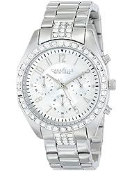 Caravelle New York by Bulova Womens 43L171 Analog Display Japanese Quartz White Watch