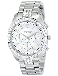Bulova Caravelle New York  Women's 43L171 Analog Display Japanese Quartz White Watch