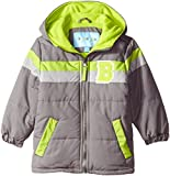 Wippette Little Boys' Toddler Puffer Coat with Stripe, Charcoal, 2T