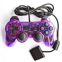 Bowink 1 Pack Wired Gaming Controller for Ps2 Double Shock - Purple