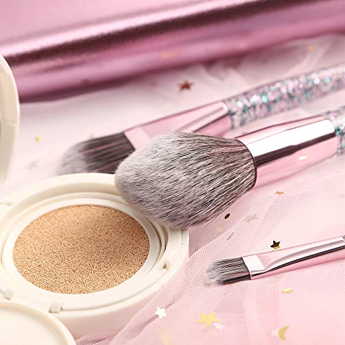 Professional 10 pcs Makeup Brush set, Green Beauty Mall Cosmetics Brush Collection, Pink