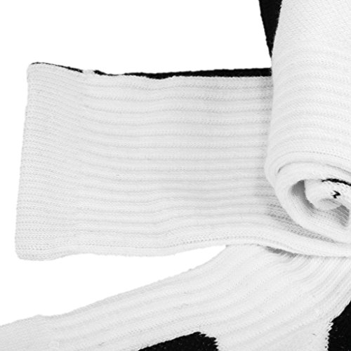 Secado Rápido de Sudor Calcetines Toalla Tubo Al Aire Libre Calcetines De Baloncesto Atléticos para Hombres - Rojo Blanco+Negro