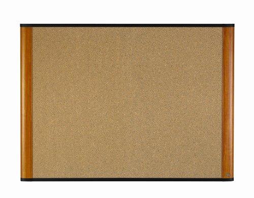 3M Cork Board, 36 x 24-Inches, Widescreen Light Cherry-Finish Frame