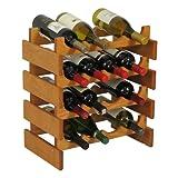 Wooden Mallet 16-Bottle Dakota Wine Rack, Medium Oak