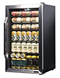 NewAir Beverage Cooler and Refrigerator, Mini Fridge with Double-Paned Glass Door, Perfect