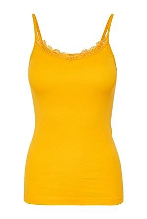 best quality new lower prices popular stores Only - Débardeur - Femme Jaune Groc - Jaune - L: Amazon.fr ...