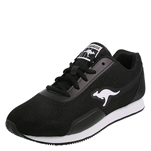 KangaROOS Black White Women's Shadow Jogger 9 Regular