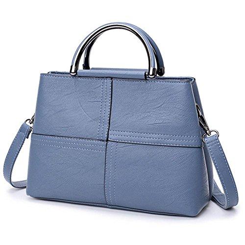 Aoligei Señora bolso versión coreana moda mujer bolso retro madre bolsa marea las mujeres hombros bolsa satchel oblicua cientos D