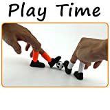 callm Finger Soccer Ideal Party Finger Football Soccer Match Toy Funny Finger Toy Game Sets with Two Goals (A)