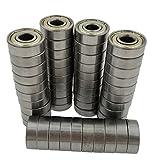 608zz bearing - M-jump 50Pcs 608ZZ Skateboard Bearings, Double Shielded ,8x22x7 608 zz Miniature Ball Bearings(pack of 50)